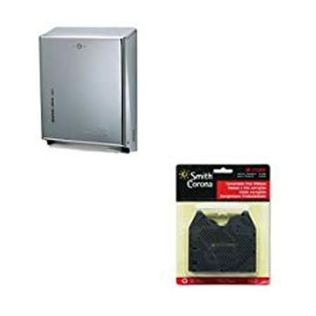 Corona Kit - KITSJMT1900XCSMC21000 Value Kit Smith Corona 21000 Correctable Ribbon SMC21000 and San Jamar C Fold Multifold