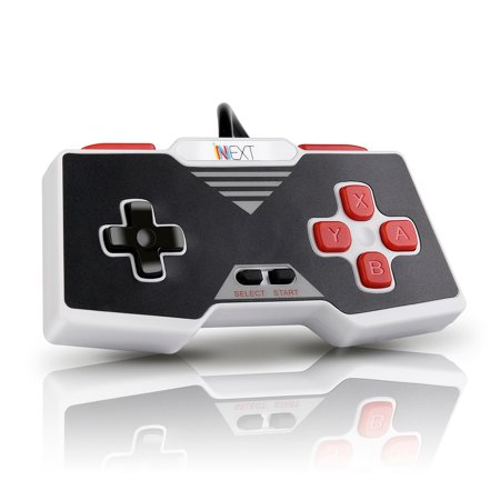 iNNEXT USB Classic SNES Controller Wired Gamepad for Windows PC Mac Raspberry Pi Linux Emulators - Plug and