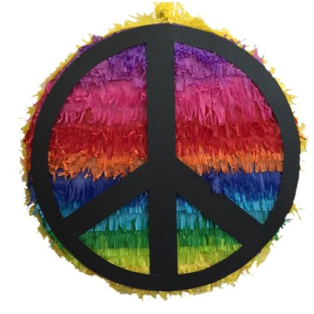 APINATA4U Rainbow Peace Sign Pinata