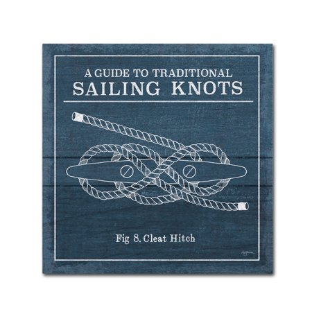 Trademark Fine Art 'Vintage Sailing Knots VII' Canvas Art by Mary Urban (Vintage Knot)