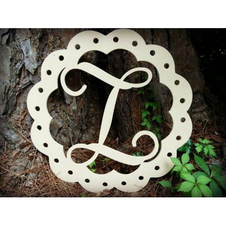 Scallop Monogram Letter, Frame Wooden, 12'' Z Unfinished DIY Craft](Letter Z Crafts)