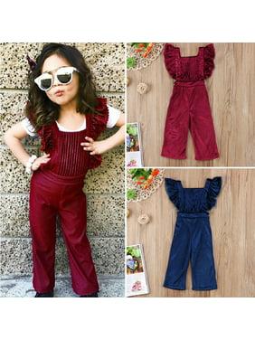 53f17970f3b4 Toddler Girls Rompers - Walmart.com