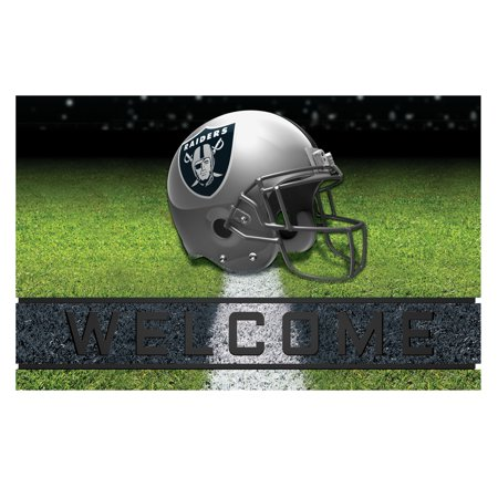 Oakland Raiders Crumb Rubber Door Mat (Oakland Raiders Pet Mat)