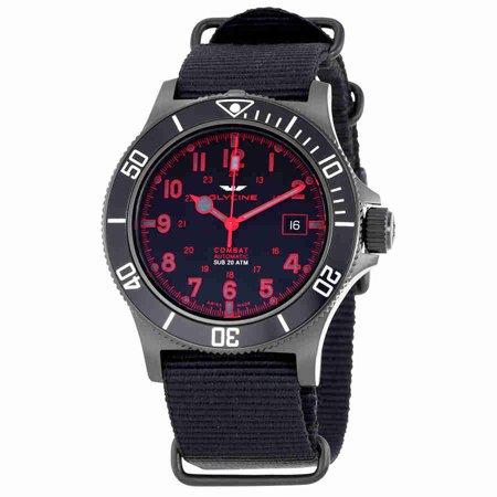 Combat Sub Automatic Black Dial Mens Nylon Watch GL0085