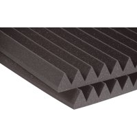 "Auralex Acoustics - 2"" Studiofoam Wedge 2' x 2' x 2"" Acoustic Panels (12 pack) Charcoal"
