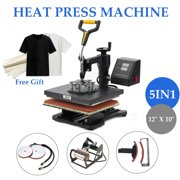 """5 in 1 Dual LED monitor 12"""" x 10"""" Heat Press 360 Degree Swivel Heat Press Machine"""