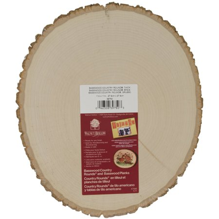 "Basswood Country Round Plaque-9"" To 11"" Wide - image 1 de 1"