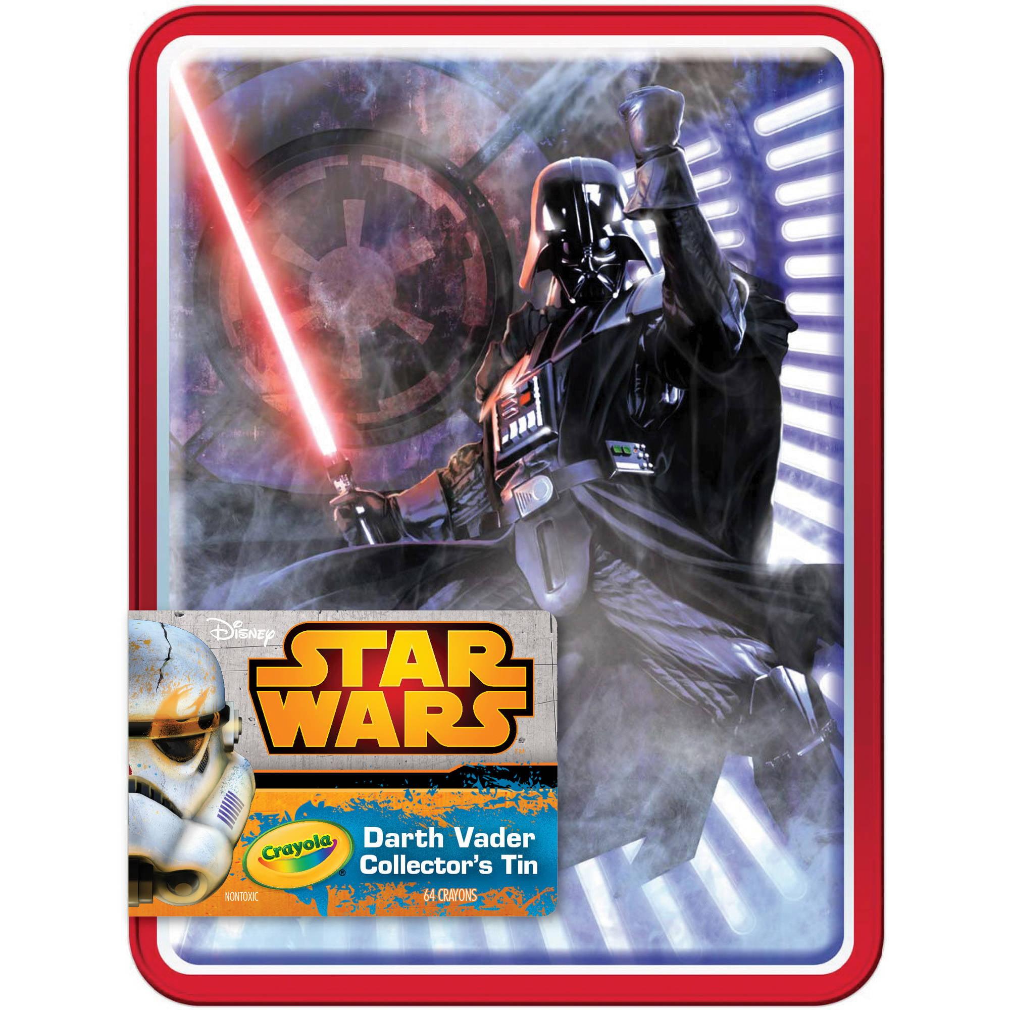 Star Wars Limited Edition Collectible Crayon Tin, Darth Vader with 64 Ct. Crayon