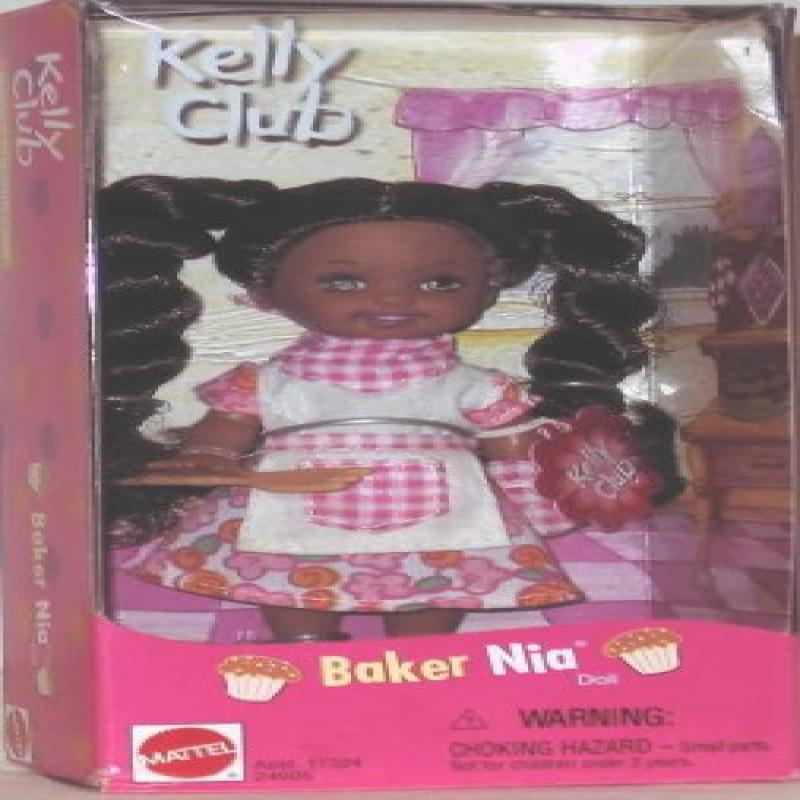 Mattel Barbie Kelly BAKER NIA Doll ETHNIC w Kelly Club Po...