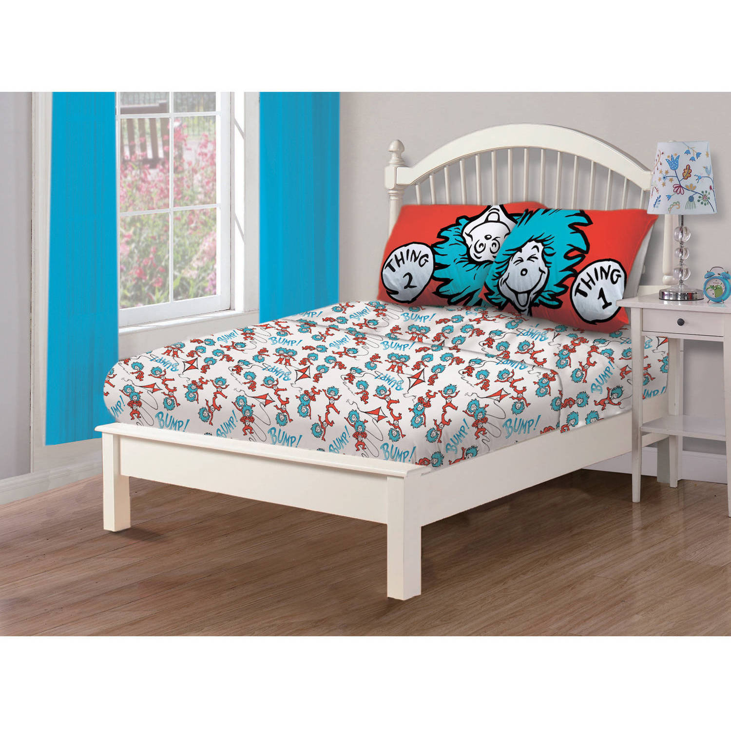 "Dr. Seuss The Cat in the Hat Bedding ""Covers Cover"" Twin Sheet Set"