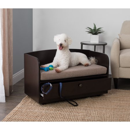 Paw And Purrs Pet Bed With Storage Drawer Espresso