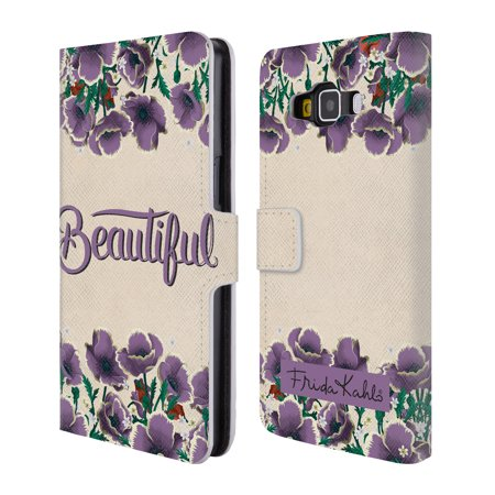 OFFICIAL FRIDA KAHLO TYPOGRAPHY 2 LEATHER BOOK WALLET CASE COVER FOR SAMSUNG PHONES 2