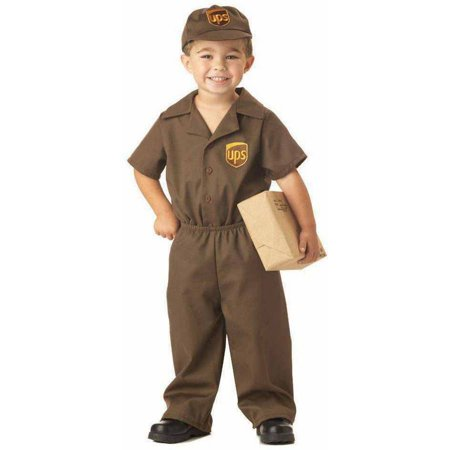 The UPS Guy Boys' Toddler Halloween Costume (Easy Halloween Costumes For Guys In College)