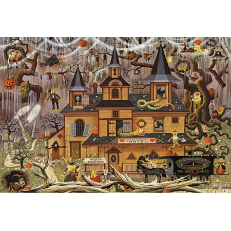Buffalo Games 500 Piece Puzzle, Wysocki - Trick of Treat Hotel](Halloween Logic Puzzle)