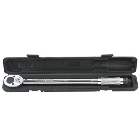 "Tooluxe Torque Wrench 1/2"" inch Drive 10-150 ft/lb 18"" Long Click-Type Hand Tool w/ Case"