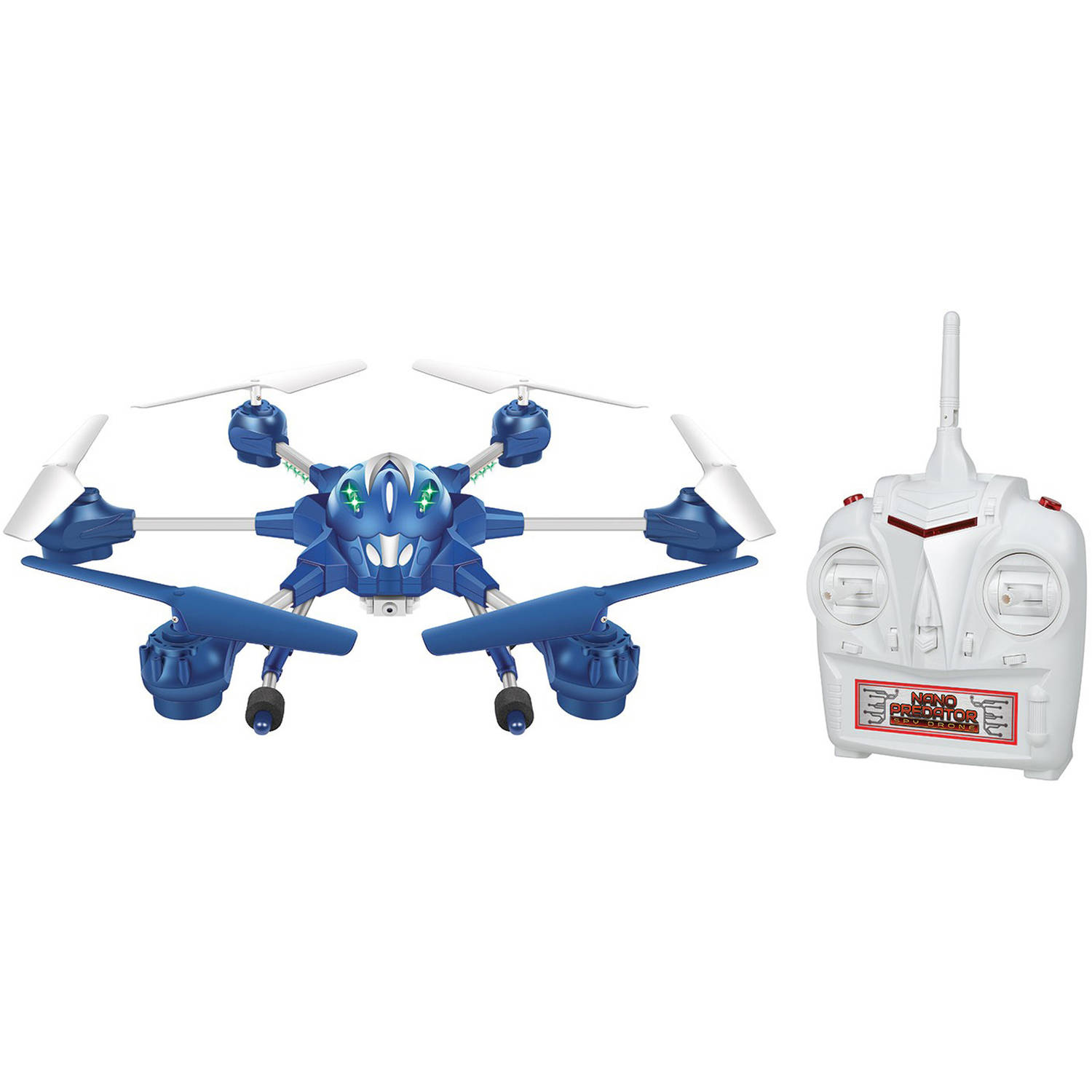 2.4Ghz 4.5-Channel Nano Alpha Spy Drone Picture and Video Remote Control Quadcopter by World Tech Toys