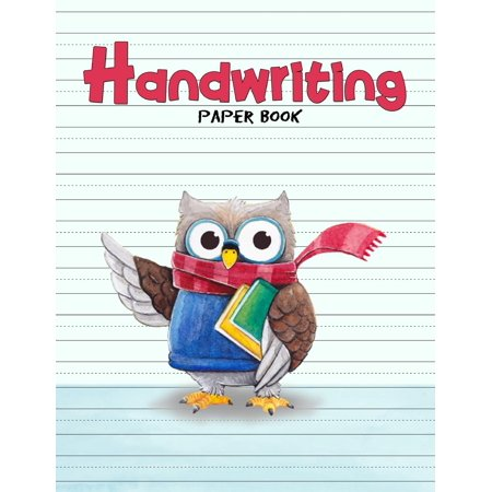 Handwriting Paper Book: Penmanship Practice Paper Notebook Writing Letters & Words with Dashed Center Line, Handwriting Hooked Learn, Handwriting Workbooks for Kids, 8.5 X 11 100 Pages - Handwriting Books