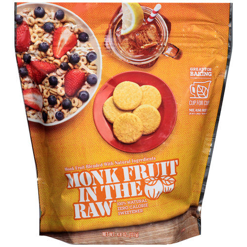 Monk Fruit in the Raw 100% Natural Zero Calorie Sweetener, 4.8 oz