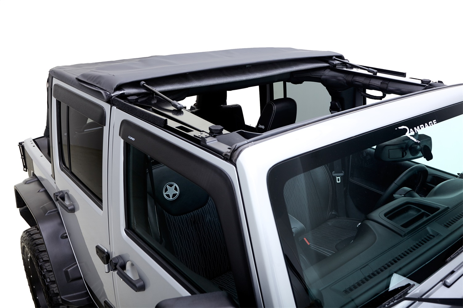 R&age 139835 Trailview Frameless Soft Top; Black Diamond; w/Tinted Windows/Door  sc 1 st  Walmart & Rampage 139835 Trailview Frameless Soft Top; Black Diamond; w/Tinted ...
