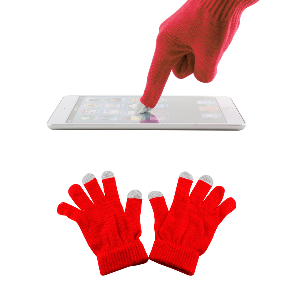 Red Unisex Touch Screen Gloves for Capacitive Touch Screens Smartphones Texting