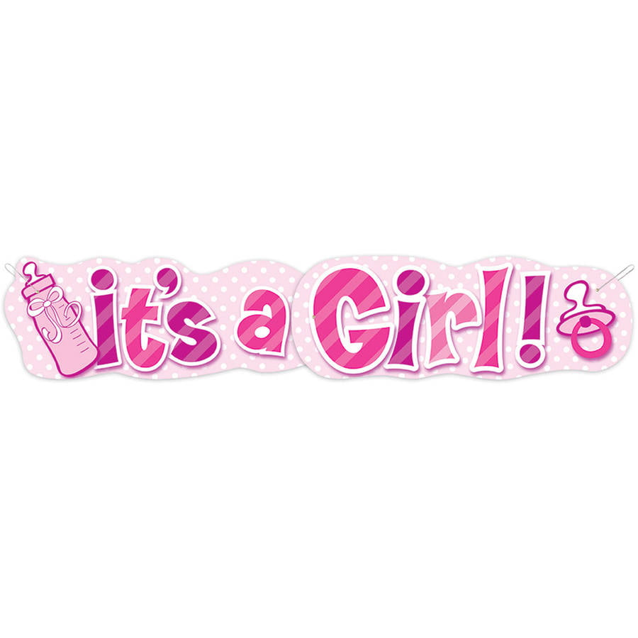 Pink Carriage It S A Girl Banner Magical Printable