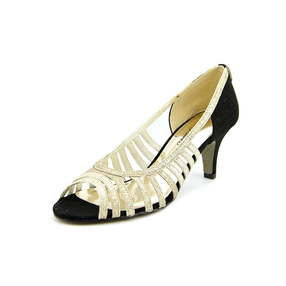 Easy Street Sparkle Peep-Toe Synthetic Heels by Easy Street