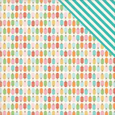 Popsicles   Soak Up The Sun Double Sided Cardstock 12 X12