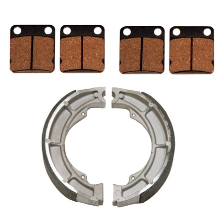 Front Brake Pads   Rear Brake Shoes 2002 2007 Suzuki Eiger 400 2Wd 4Wd 2X4 4X4