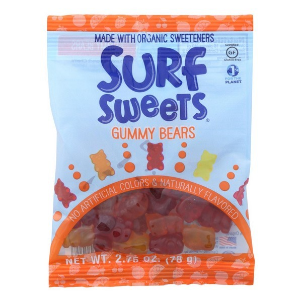 Surf Sweets Gummy Worms - Sweet - Pack of 12 - 2.75 Oz.