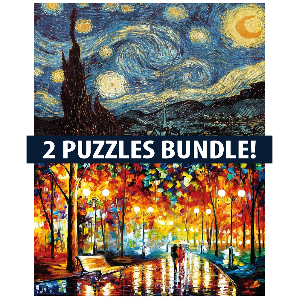 Jigsaw Puzzles 1000 Pieces for Adults and Kids Starry Night Stars by Vincent Van Gogh Jigsaw Puzzle Landscape Classic Oil Paintings Art Puzzles Friends Game Toys
