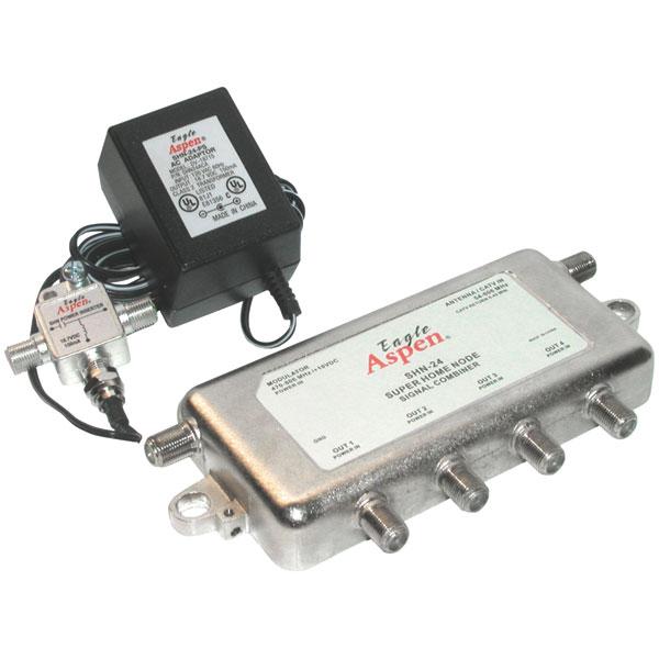 Pro Brand Shn-24 4-way Signal Combiner - 42mhz - Signal Combiner - Eagle Aspen Shn24-kit (shn24kit)
