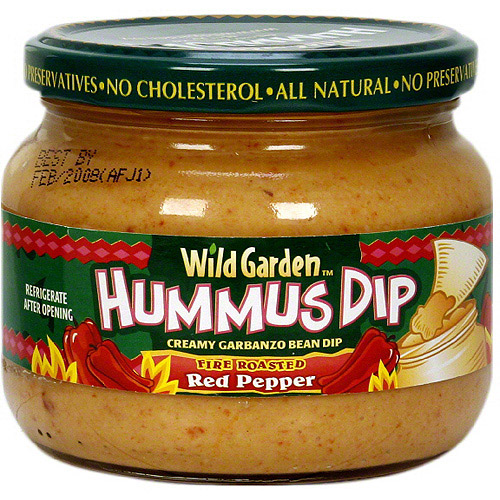 Wild Garden Fire Roasted Red Pepper Hummus, 10.74 oz (Pack of 6)