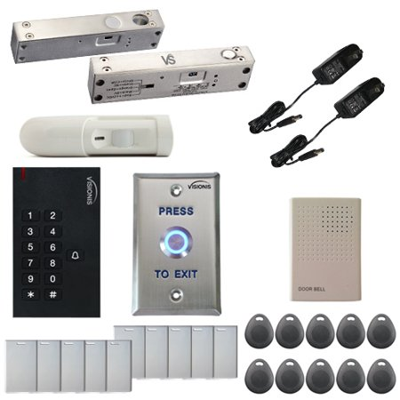 FPC-5555 One Door Access Control 2200lbs Electric Drop Bolt Fail Safe Time  Delay for Narrow Door, VIS-3002 Indoor Use Only Keypad/Reader Standalone No