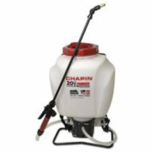 Chapin 139-63985 Wide Mouth Battery Powered Backpack Sprayer, 4 Gal, 20 0. 5 inch Ext. , 48 inch Hose