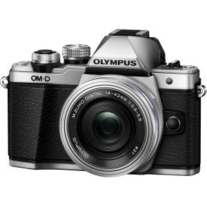 Olympus OM-D E-M10 Mark II Mirrorless 20.3MP Camera with 14-42mm Lens - Silver