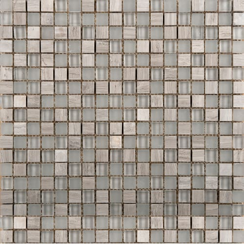 "Emser Tile W80LUCE1212MSH Lucente - 11-13/16"" x 11-13/16"" Square Mosaic Tile - Polished Glass Visual"
