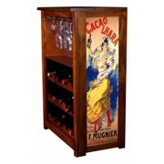 """""""Cacao Lhara"""" by Jules Cheret Wine Cabinet"""