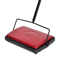 Alpine 469-Red Triple Brush Floor And Carpet Sweeper - Red