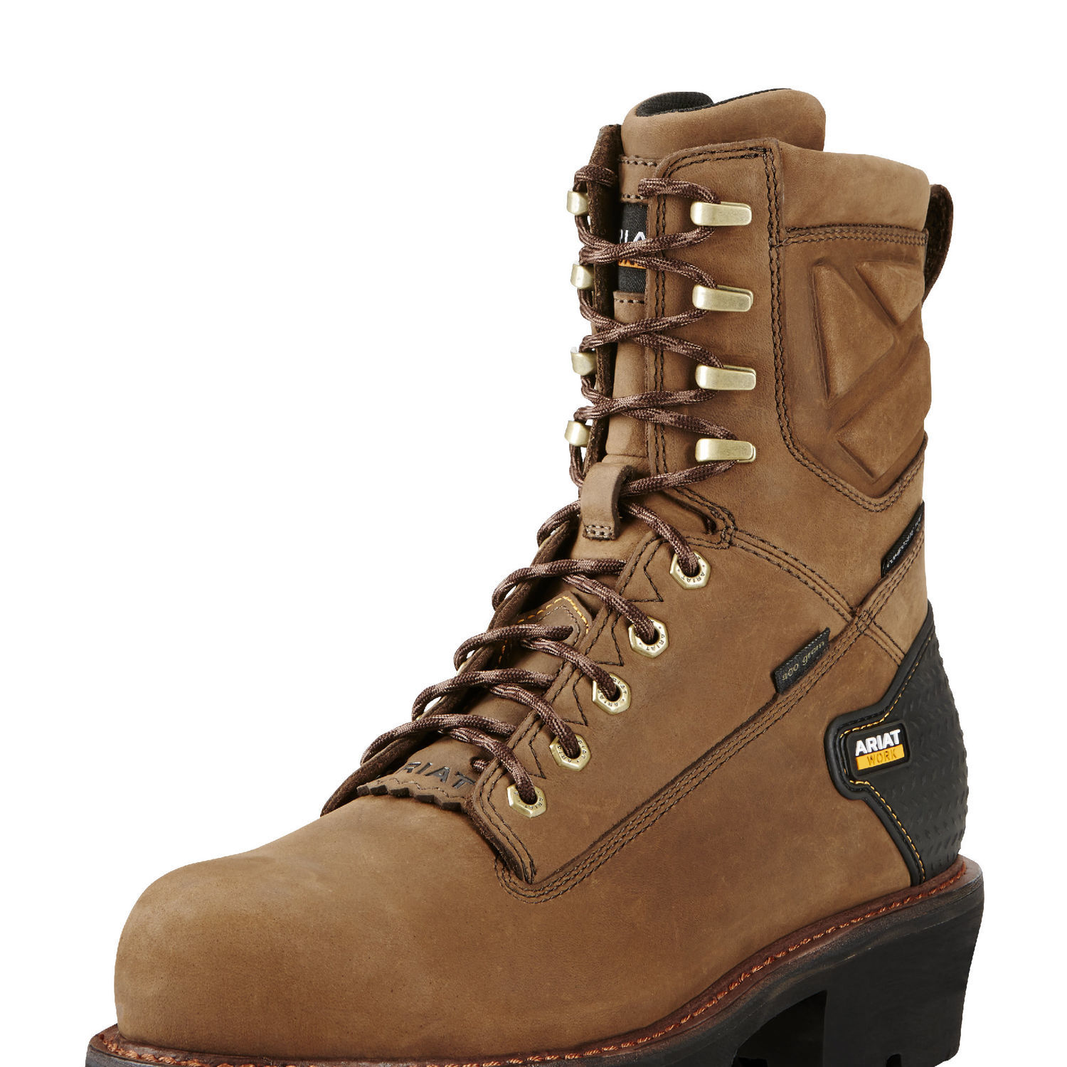 """Ariat 10018567 Powerline 8"""" H2O 400g Composite Toe 8"""" Lace Up Work Boot Waterproof EH Rated Insulated by"""