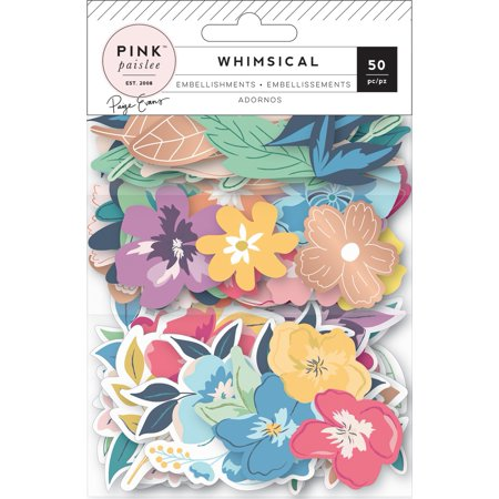 Paige Evans Whimsical Ephemera Die-Cuts 50/Pkg-Cardstock W/Copper Foil - Ephemera Scrapbooking