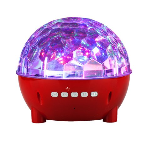 Mini Colorful Stage Lights Wireless Bluetooth Speaker for BLU Vivo 8,Life One X3,R2 Plus,Grand XL LTE, S1, R2 LTE, R2, Tank Xtreme Pro, R1 Plus,Tank Xtreme 5.0, Dash L3 (Blinking Red Light On Top Of Dash)