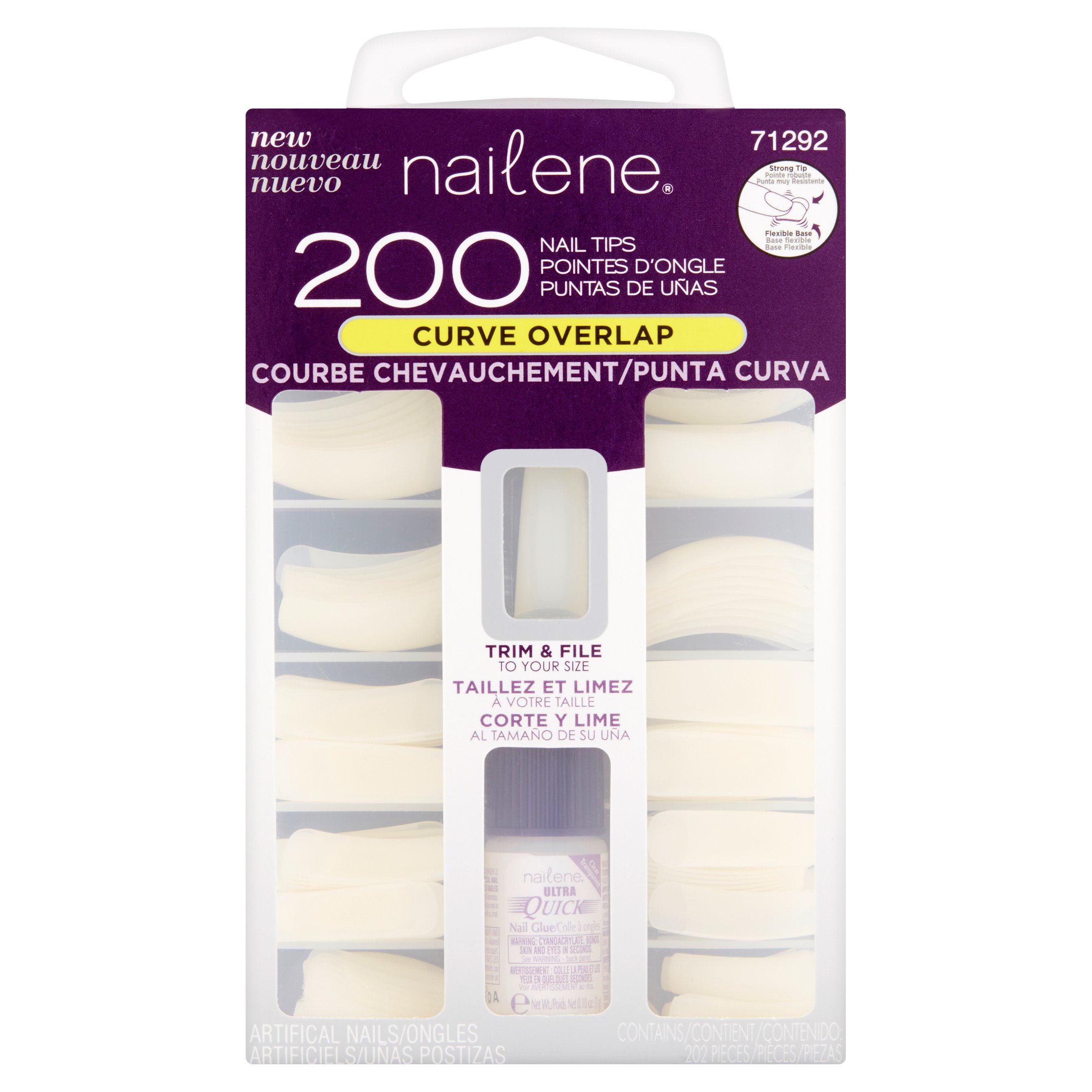 Nailene Nail Tips Curve Overlap, 200 count