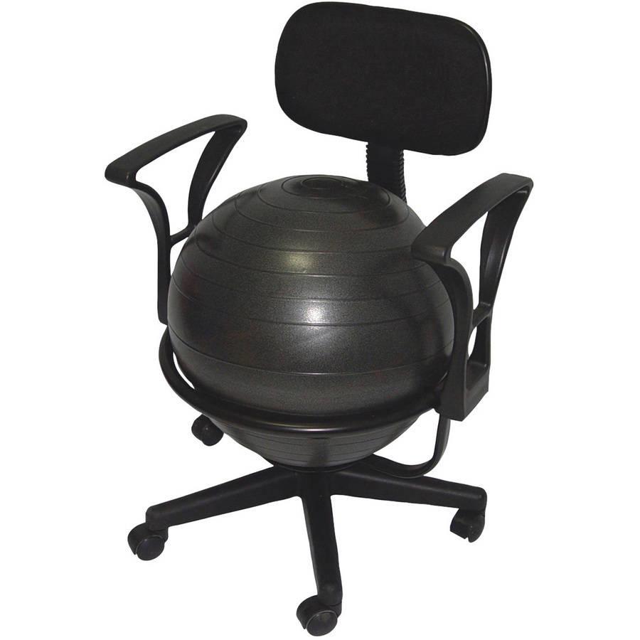 CanDo Metal Ball Chair, Black