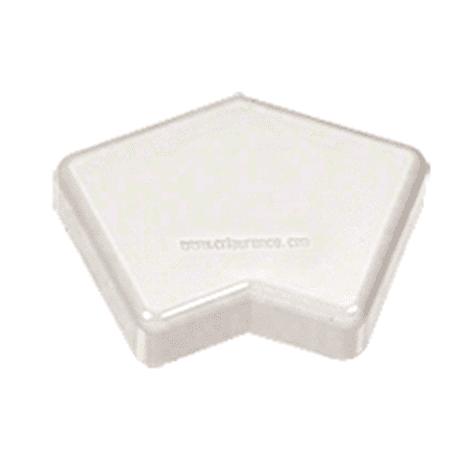 CRL PC45W Sky White 100 Series 135 Degree Post Cap