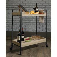Sauder North Avenue Serving and Bar Cart, Multiple Finishes
