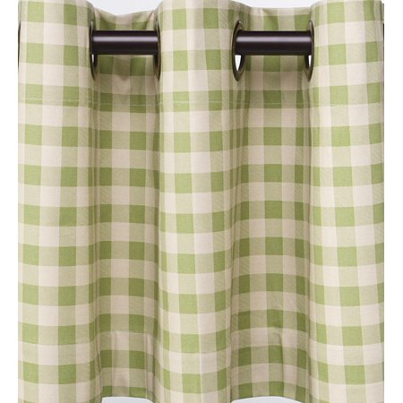 Thermalogic Check Grommet Top Curtain Pair, 72 L ()