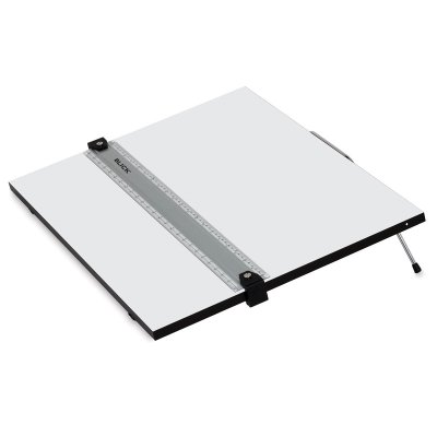 "Blick Portable Tabletop Drafting Board with Parallel Ruler Straight Edge - 18"" x 24"""
