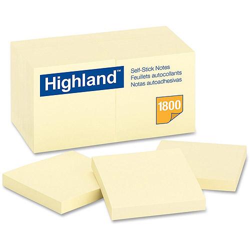 3M Highland Self-Sticking Note Pads