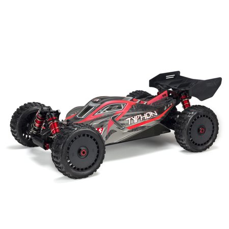 ARRMA 1/8 TYPHON 6S BLX 4WD Brushless Buggy with Spektrum RTR, Red/Grey,