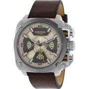 Diesel Men's DZ7343 Brown Leather Quartz Watch